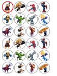 24 x Marvel Superheroes Superhero Squad Edible Rice Wafer Paper Bun Cup Cake Top Toppers
